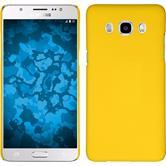 Hardcase Galaxy J5 (2016) J510 gummiert gelb + 2 Schutzfolien