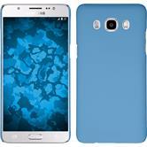 Hardcase Galaxy J5 (2016) J510 gummiert hellblau + 2 Schutzfolien
