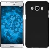 Hardcase Galaxy J5 (2016) J510 gummiert schwarz + 2 Schutzfolien