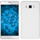 Hardcase Galaxy J5 (2016) J510 gummiert weiß + 2 Schutzfolien