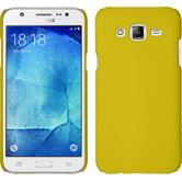 Hardcase Galaxy J5 (2015 - J500) gummiert gelb + 2 Schutzfolien