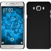 Hardcase Galaxy J7 (2016) J710 gummiert schwarz + 2 Schutzfolien