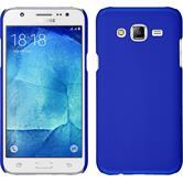 Hardcase Galaxy J7 gummiert blau + 2 Schutzfolien