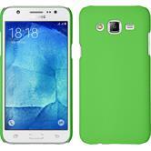 Hardcase Galaxy J7 gummiert grün + 2 Schutzfolien