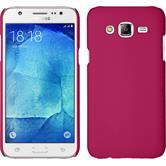 Hardcase Galaxy J7 gummiert pink + 2 Schutzfolien