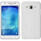 Hardcase Galaxy J7 gummiert weiß + 2 Schutzfolien