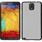 Hardcase Galaxy Note 3 Carbonoptik weiß
