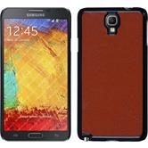 Hardcase for Samsung Galaxy Note 3 Neo leather optics brown