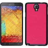 Hardcase Galaxy Note 3 Neo Lederoptik pink