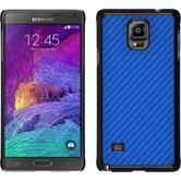 Hardcase Galaxy Note 4 Carbonoptik blau