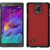 Hardcase Galaxy Note 4 Carbonoptik rot