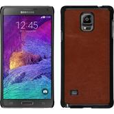 Hardcase Galaxy Note 4 Lederoptik braun
