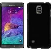 Hardcase Galaxy Note 4 Lederoptik schwarz + 2 Schutzfolien