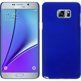 Hardcase Galaxy Note 5 gummiert blau + 2 Schutzfolien