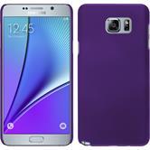 Hardcase Galaxy Note 5 gummiert lila + 2 Schutzfolien