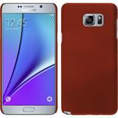 Hardcase Galaxy Note 5 gummiert rot