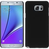 Hardcase Galaxy Note 5 gummiert schwarz + 2 Schutzfolien
