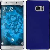Hardcase für Samsung Galaxy Note 7 gummiert blau
