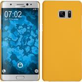 Hardcase Galaxy Note FE gummiert gelb Case