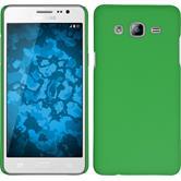 Hardcase Galaxy On5 gummiert grün + 2 Schutzfolien