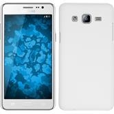 Hardcase Galaxy On5 gummiert weiß + 2 Schutzfolien