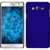Hardcase Galaxy On7 gummiert blau + 2 Schutzfolien