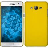 Hardcase Galaxy On7 gummiert gelb + 2 Schutzfolien