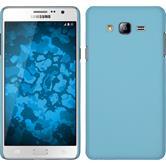 Hardcase Galaxy On7 gummiert hellblau + 2 Schutzfolien