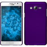 Hardcase Galaxy On7 gummiert lila + 2 Schutzfolien
