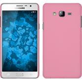 Hardcase Galaxy On7 gummiert rosa + 2 Schutzfolien