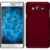 Hardcase Galaxy On7 gummiert rot + 2 Schutzfolien