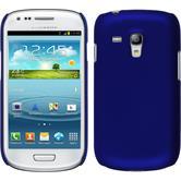 Hardcase Galaxy S3 Mini gummiert blau
