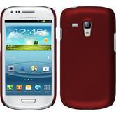 Hardcase Galaxy S3 Mini gummiert rot