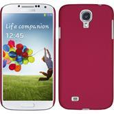 Hardcase Galaxy S4 gummiert pink + 2 Schutzfolien