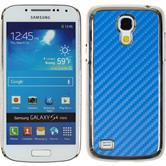Hardcase for Samsung Galaxy S4 Mini carbon optics blue