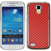 Hardcase for Samsung Galaxy S4 Mini carbon optics red