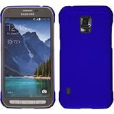 Hardcase Galaxy S5 Active gummiert blau
