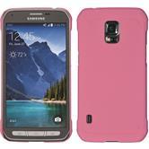 Hardcase Galaxy S5 Active gummiert rosa Case