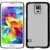 Hardcase for Samsung Galaxy S5 carbon optics white