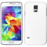 Hardcase Galaxy S5 mini gummiert weiß + 2 Schutzfolien