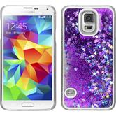 Hardcase Galaxy S5 Neo Stardust lila + 2 Schutzfolien