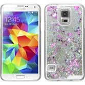 Hardcase für Samsung Galaxy S5 Neo Stardust silber