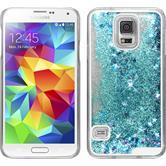Hardcase Galaxy S5 Stardust blau + 2 Schutzfolien
