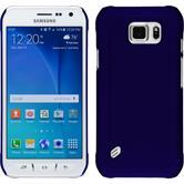 Hardcase für Samsung Galaxy S6 Active gummiert blau