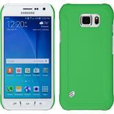 Hardcase Galaxy S6 Active gummiert grün + 2 Schutzfolien