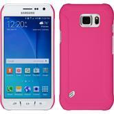 Hardcase Galaxy S6 Active gummiert pink + 2 Schutzfolien