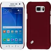 Hardcase Galaxy S6 Active gummiert rot + 2 Schutzfolien