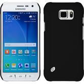 Hardcase Galaxy S6 Active gummiert schwarz + 2 Schutzfolien
