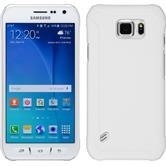 Hardcase Galaxy S6 Active gummiert weiß + 2 Schutzfolien