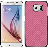 Hardcase Galaxy S6 Carbonoptik pink